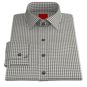 Black Checkered Twill