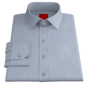Blue White Gingham Twill