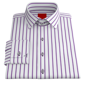 Bold Purple Striped Twill