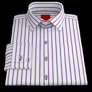 Bold Purple Striped Twill