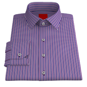 Crisp Blue & Purple Oxford