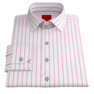 Pink Striped Twill
