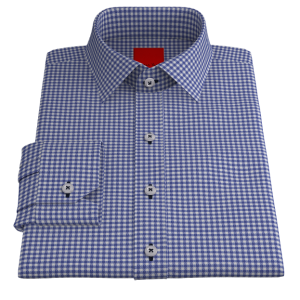 Royal Blue Gingham Twill