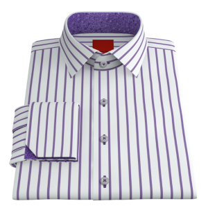 VY Bold Purple Striped Twill
