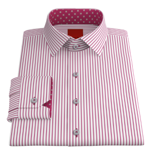 VY Pink Striped Oxford