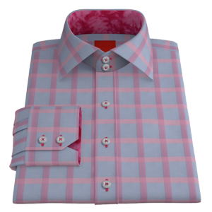 VY Bold Pink Check on Blue