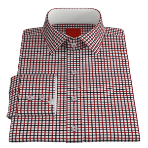 VY Red Navy Check Twill