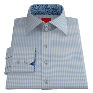 VY Blue White Gingham Twill