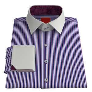 VY Crisp Blue & Purple Oxford
